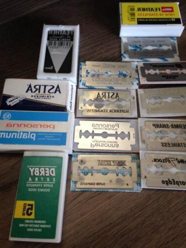 Premium DE Sampler Pack Blades Total