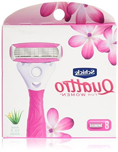 Schick Quattro Ultra Razor Blade Refills with and Count