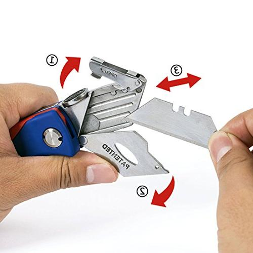 WORKPRO Folding Utility Quick-change Cutter, Storage in Handle 5 Extra