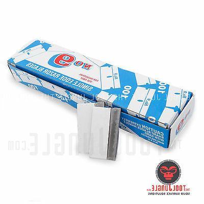 Razor Blades Single Edge 9 Steel Made in U.S.A Box of 100 Pi