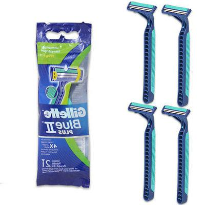 4 Pc Razor Disposable Blue 2 Plus Twin Blade Ultra Grip Lubr