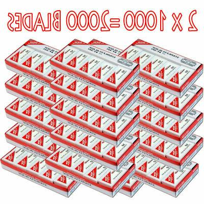 2X 1000 DORCO Red Razor Blades - Case of 10 100-packs = 1000