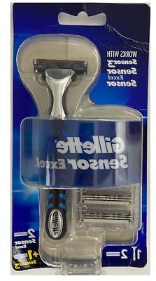 Gillette Sensor Excel Razor Handle + 3 Cartridges