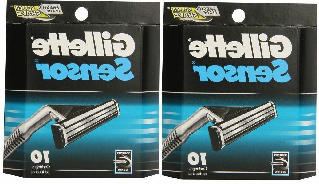 sensor razor blades 20 cartridges