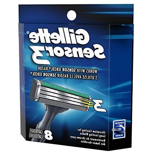 Gillette Sensor3 Men's Razor Blade Mens