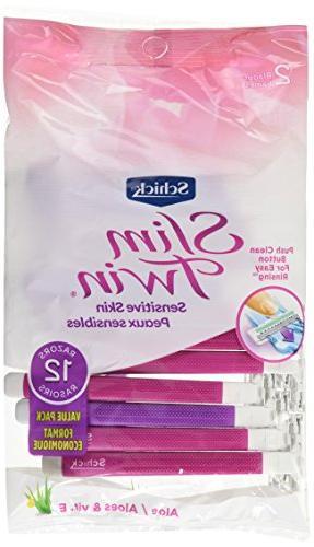 Schick Slim 2 Disposable Razors Women Razor 12