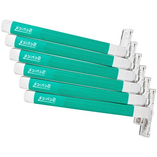 Schick Twin 2 Disposable Razors Men Skin Razor, 6 Count