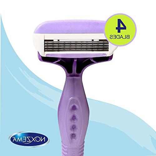 Noxzema Shave Shavers; Women's Disposable Razors Feature Moisture Strip with and Design Ultra Smoothness; Flexes to Curves