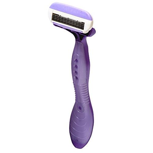 Noxzema Shave 4-Blade Shavers; Razors Feature Moisture Strip with Argan Oil Ultra Smoothness; Flexes to Adjust Curves