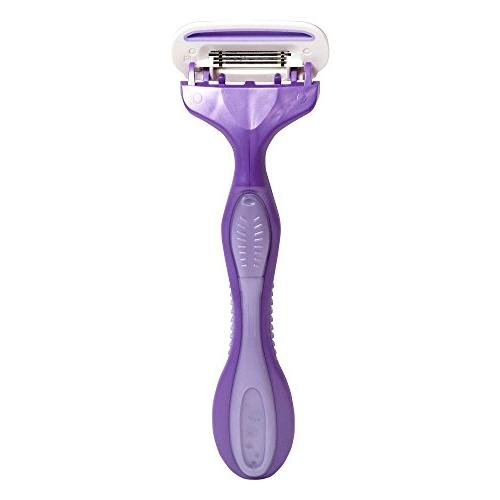 Noxzema Shave Shavers; Women's Purple Disposable Razors Moisture with Argan and Quad-Blade Design for Ultra Flexes to Adjust to Curves