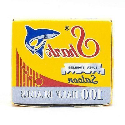 Shark Straight Edge Half Razor Blades 100ct Box