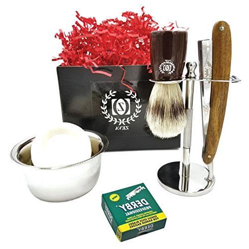 straight razor barber kit edge