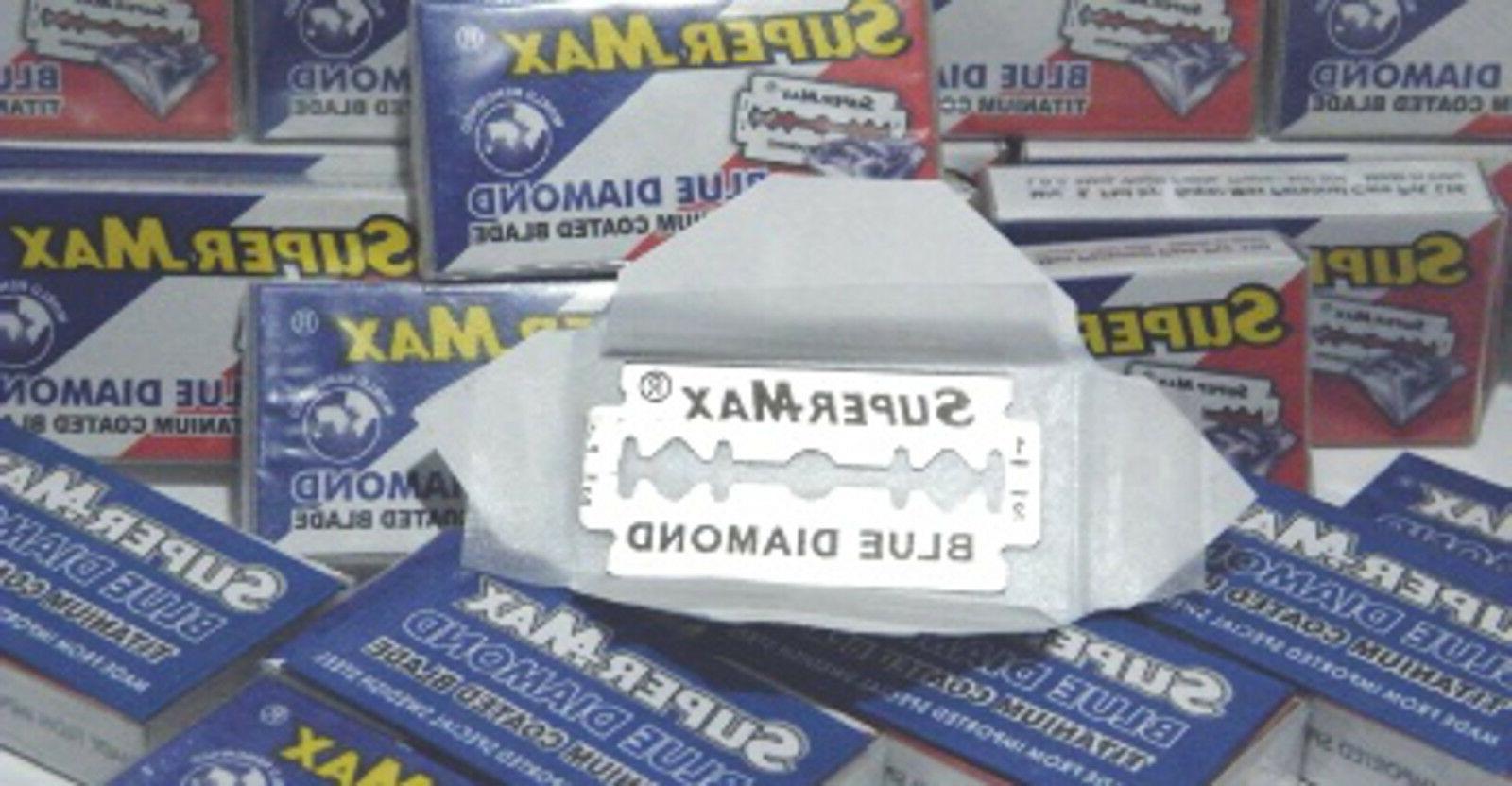 super max blue diamond titanium double edged