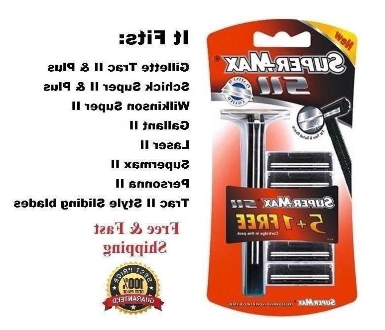Supermax 5 fits Trac Plus Shaver Handle
