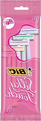 BIC Twin Select Silky Touch Twin Blade Shaver, Women, 10-Cou