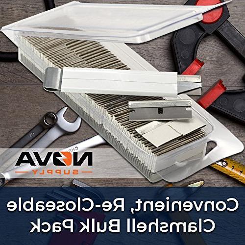 Ultra Sharp, USA-Made Razor Scraper Supply Carton Cutter Tool! Edge 1.5 Tools in a Reclosable Box