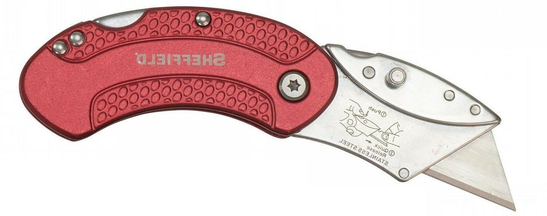 Utility Pocket Clip Knife Lock back Folding Quick Change Raz
