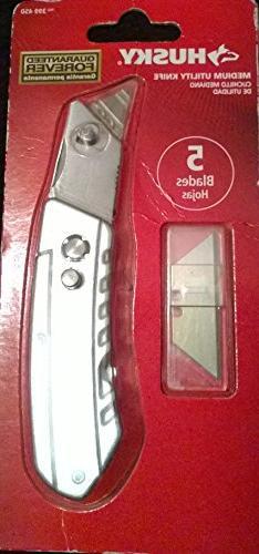 Husky Medium Utilty Knife with 5 Blades