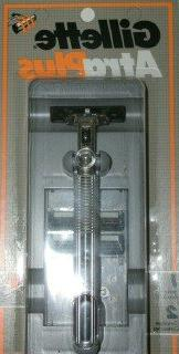 Vintage Gilette Atra Plus Razor Metal Handle with 2 Cartridg