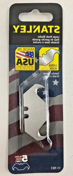 Stanley Large Hook Blades 5 pack #11-983 Made in USA Utility