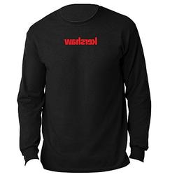 Kershaw XXL Long Sleeve Black Tee Shirt with Red Logo; 100%