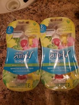 lot of 2 Gillette Venus Tropical Disposable Women's Razors -