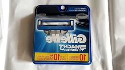 Gillette MACH 3 Turbo Razor Blades 10 Cartridges