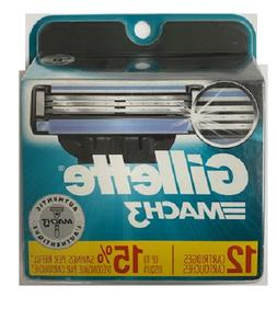 Gillette Mach3 Cartridge, 12ct