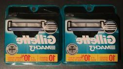 Gillette Mach3 Men's Razor Blades 2 X 10 for 20 total Blade