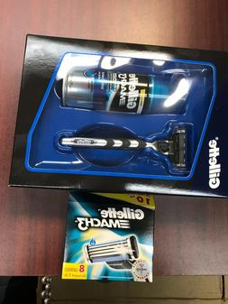Gillette Mach3 Razor Gift Set & 8 Blades Cartridges -Total o