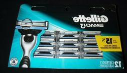 Gillette MACH3 Refills  Razor Blades - 12 Cartridges 100% au