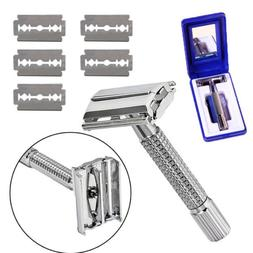 Men's Classic Traditional Safety Double Edge Chrome Shaving