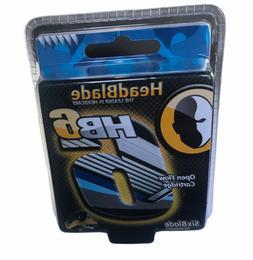 HeadBlade Men's HB6 Refill Shaving Razor Blades 4 Blades