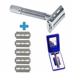 Men's Traditional Classic Double Edge Chrome Shaving Safety