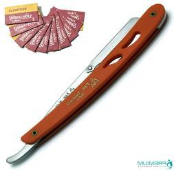 men straight barber steel edged razor folding
