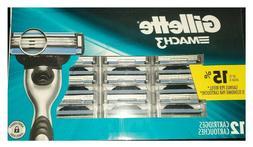 Mens Gillette MACH3 Refills Razor Blades - 12 Cartridges BLI