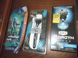 Mens Razors Schick Hydro 5 Schick Quattro and Gillette Dispo