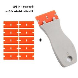 Mini Razor Plastic Double Edged Blade Scraper with 10PCS Pla