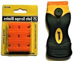 MINISCRAPER®  25 Plastic Double Edged Razor Blades and Tita