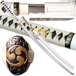 Musashi Bushido Zetsurin Handmade Katana White