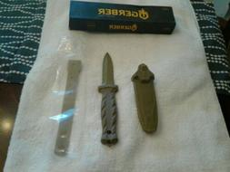 New Gerber De Facto Fixed Blade Knife Double Serrated Plasti