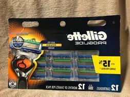 5New-Gillette Fusion5 ProGlide Men's Razor Blades-**12 Blade