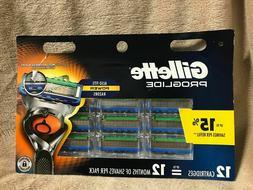New-Gillette Fusion5 ProGlide Men's Razor Blades-**12 Blade