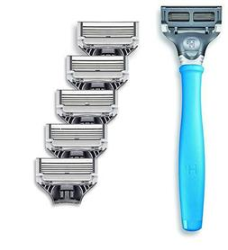 New Harrys Mens Razor Set with 6 Razor Blades