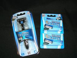NEW Dorco Pace 3 - Three Razor Blade Shaving System 10 Cartr