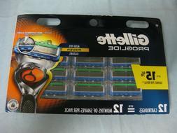 New Gillette ProGlide Men's Razor Blades Refills 12 Count