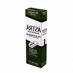 Astra Superior Platinum Double Edge Shaving Razor Blades 100
