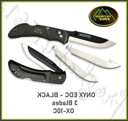 Outdoor Edge Cutlery Onyx Edc Black