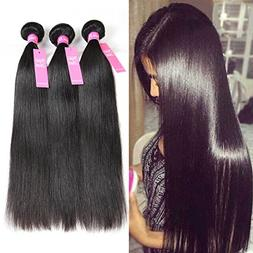 Jaja Hair 8A Peruvian Virgin Hair Straight 3 Bundles Deal 10