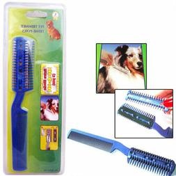 Pet Dog Cat Hair Trimmer With Comb + 2 Razor Cutting Groomin